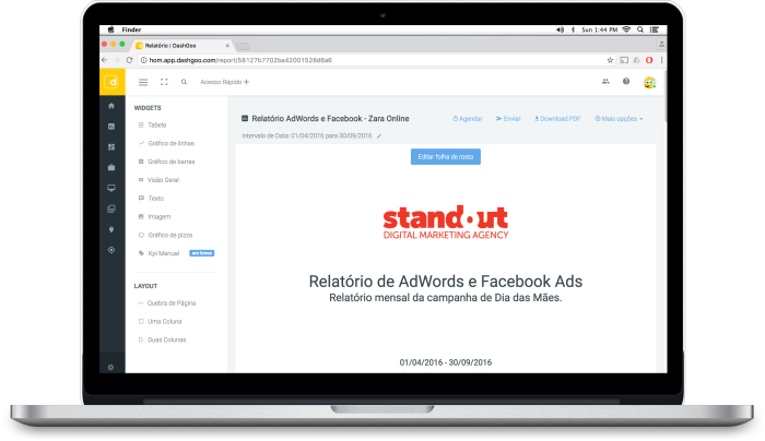 informes de analytics e adwords