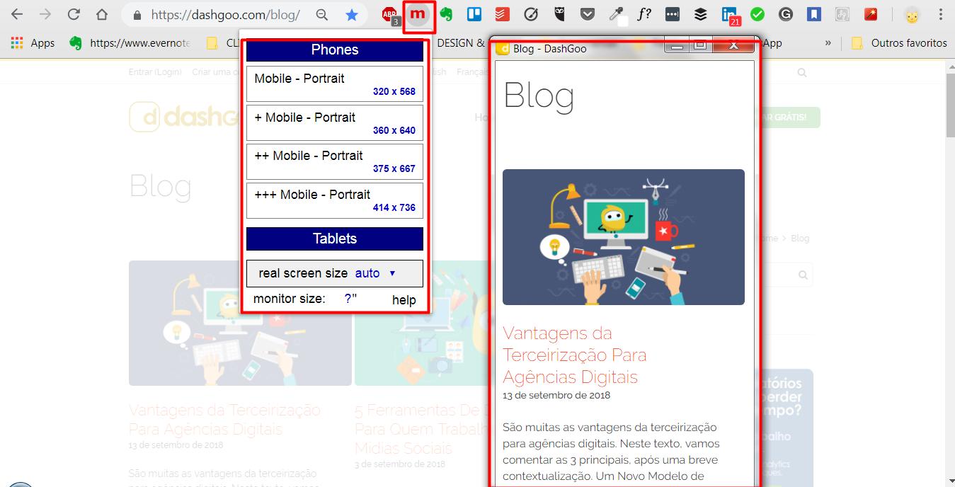 Mobile Emulator para Chrome